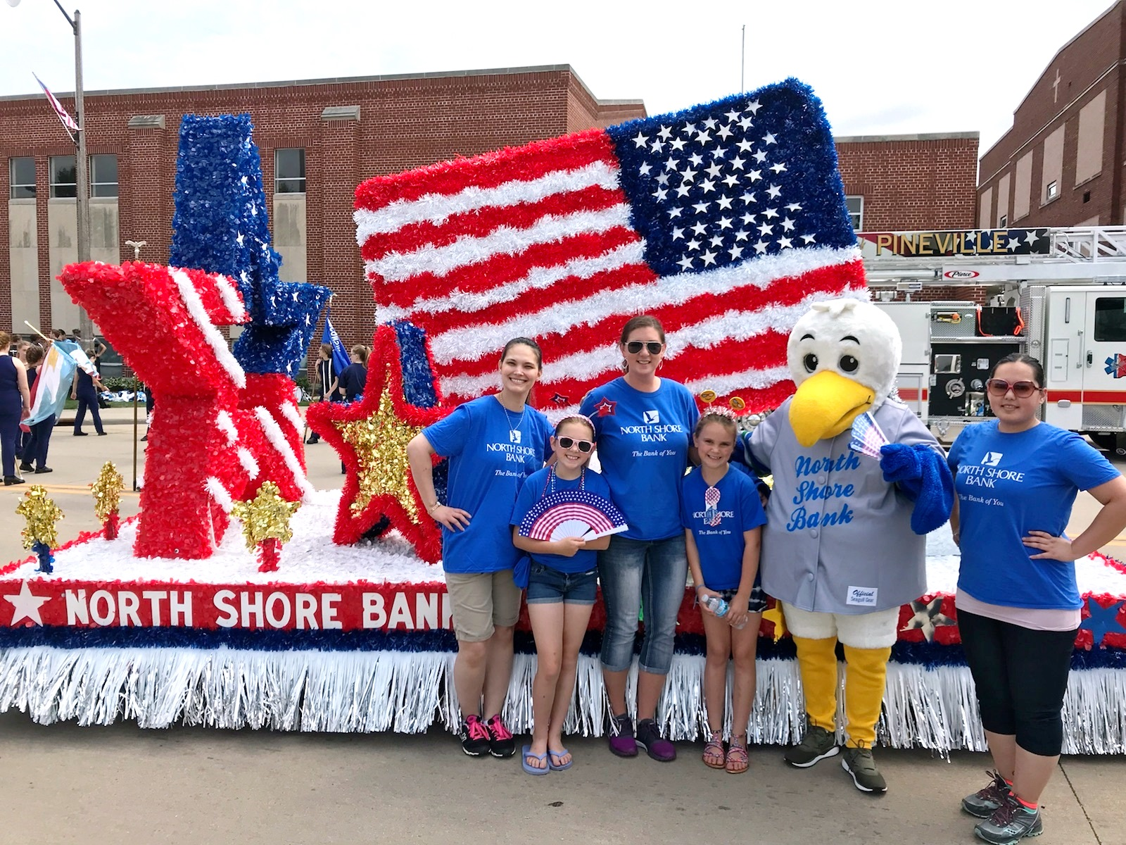 Bank's Float Wins Patriot Award in 68th Appleton Flag Day Parade
