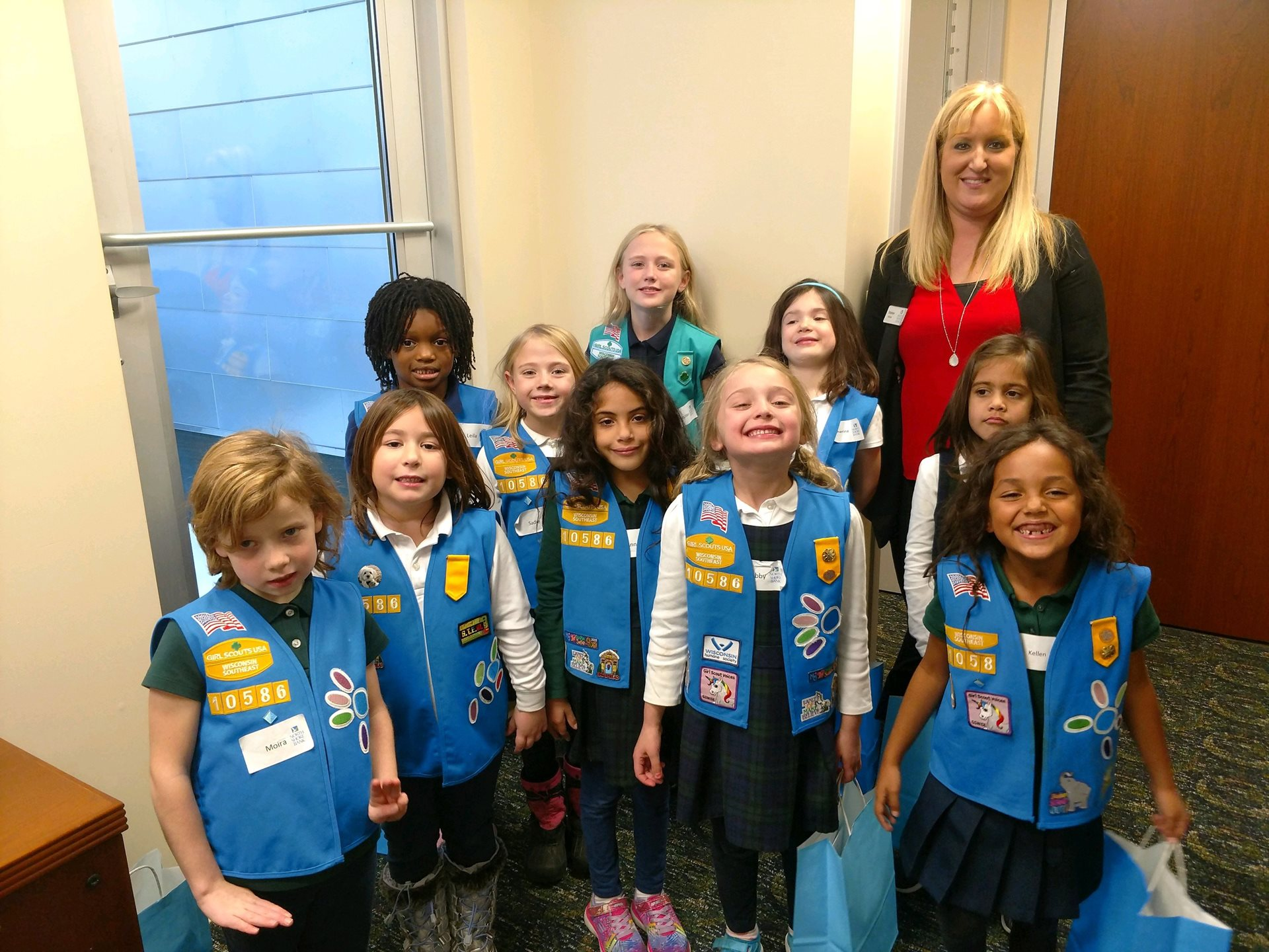 Girl Scouts Visit Shorewood Office