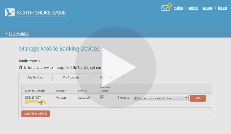 Mobile Banking Settings