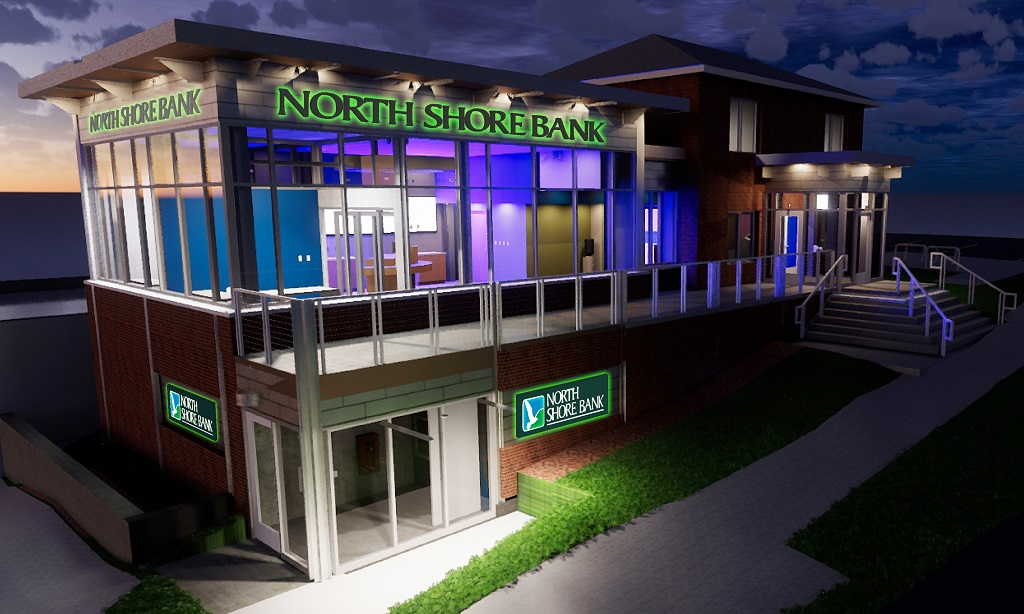 North Shore Bank Downtown Milwaukee Branch Rendering
