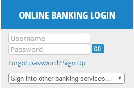 An example of the new Online Banking login fields.
