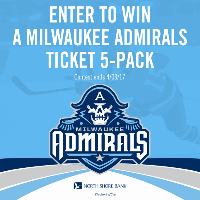 Enter to Win Tickets to the April 7 Milwaukee Admirals Game!