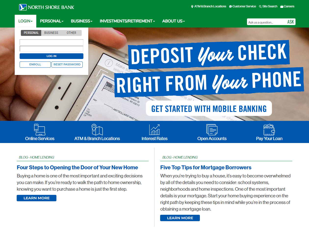 North Shore Bank Homepage
