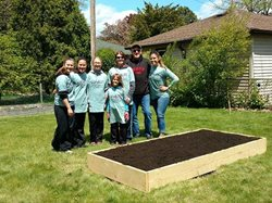 Corporate Volunteers Bring Victory Gardens to Thrilled Citizens