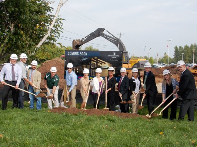 North Shore Bank Breaks Ground for new Full-Service Suamico Branch