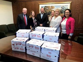 Business Bankers Make Yearly Cream Puff Deliveries to Clients